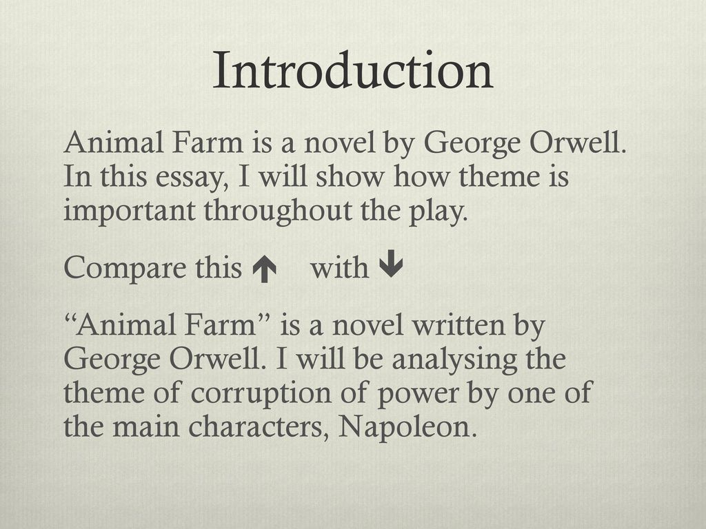 Animal Farm By George Orwell  Ppt Download  Introduction Animal Farm Is A Novel By George Orwell The Importance Of Learning English Essay also Essay On Health Awareness Descriptive Essay Thesis