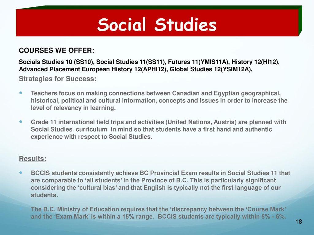 18 Social Studies ...