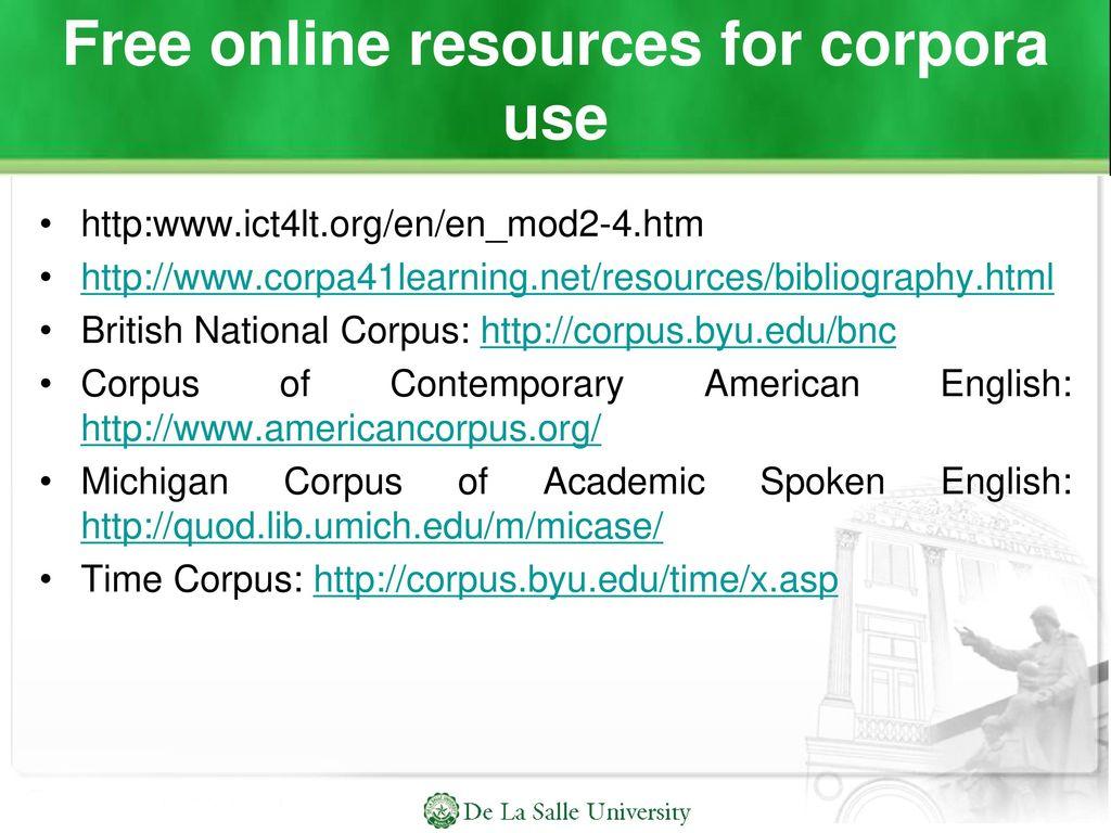 free online corpus