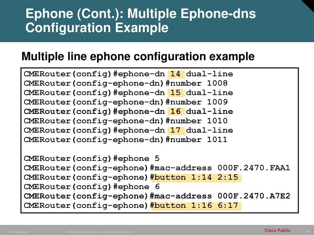 Configuring Cisco CallManager Express (CME) - ppt download