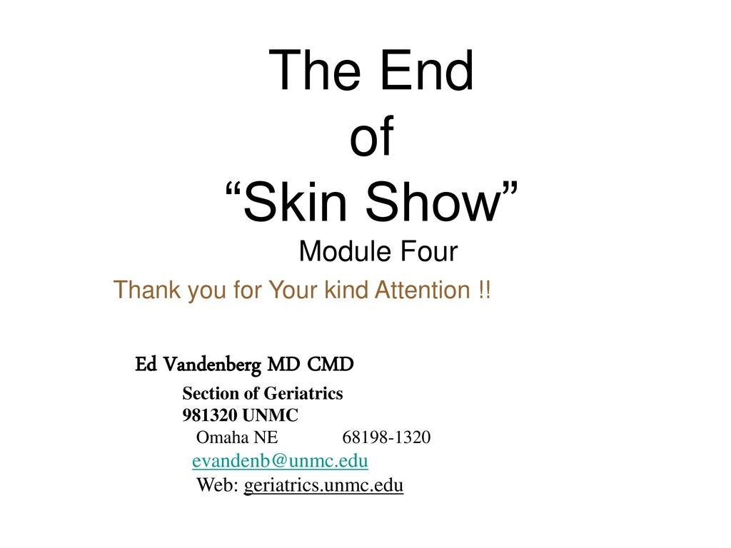 """THE SKIN SHOW """"Critters VS the Hide Module #4 - ppt download"""