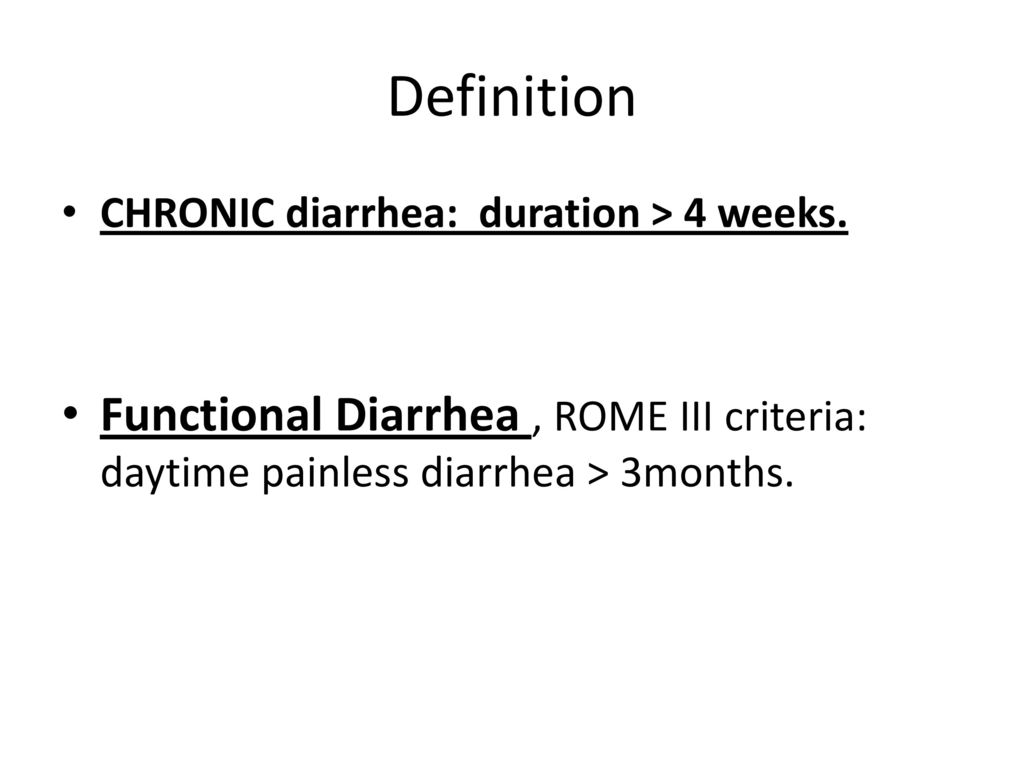 evaluation and management of chronic diarrhea - ppt download