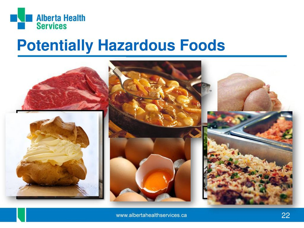 What Are Considered Potentially Hazardous Foods Food