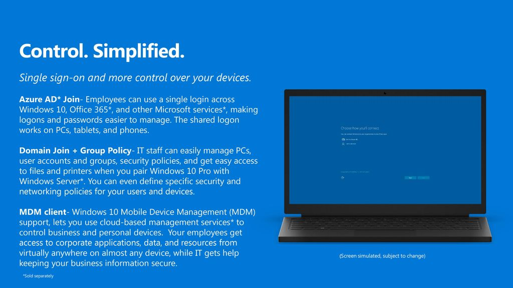 Windows 10 Pro means business - ppt download