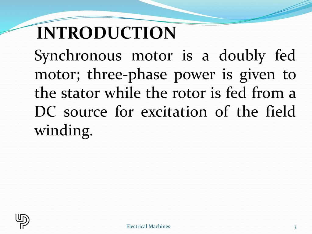 Chapter 10 Synchronous Motor Electrical Machines Ppt Video Online Ac 3 Phase Wiring Diagram Introduction