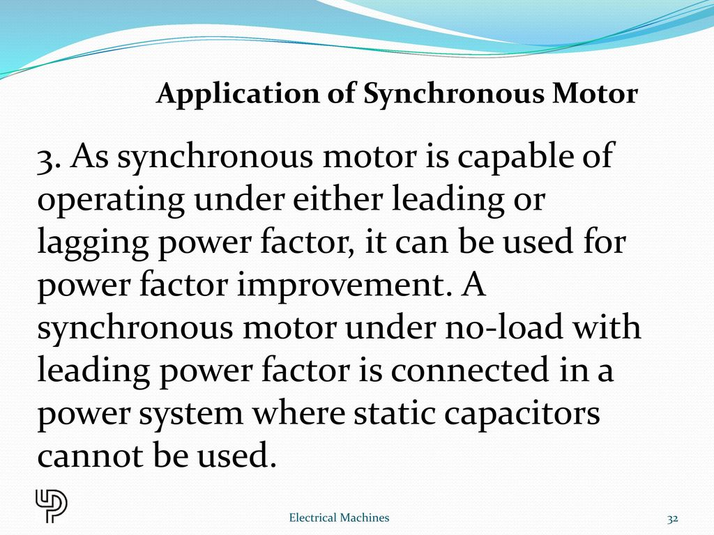 Chapter 10 Synchronous Motor Electrical Machines Ppt Video Online Ac 3 Phase Wiring Diagram Application Of