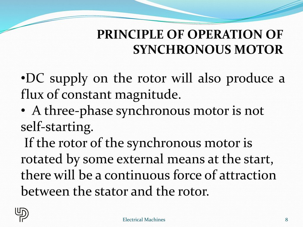 Chapter 10 Synchronous Motor Electrical Machines Ppt Video Online Ac 3 Phase Wiring Diagram Principle Of Operation