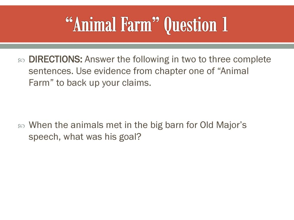 "Animal Farm"" & ""I Have a Dream"" - ppt video online download"