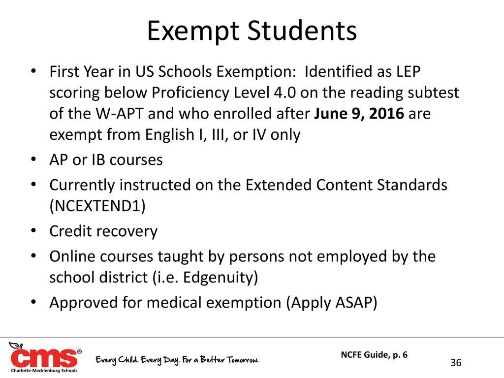 Exempt Students