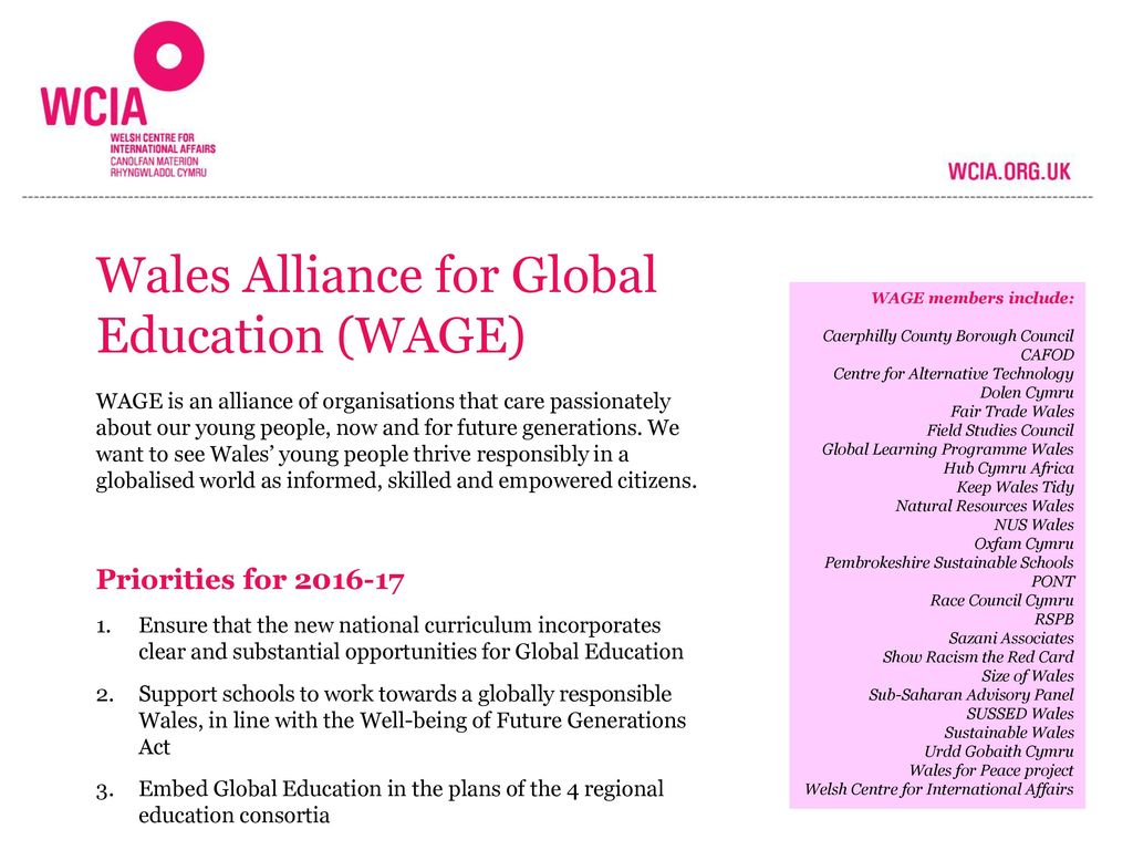 Wales Alliance for Global Education (WAGE)