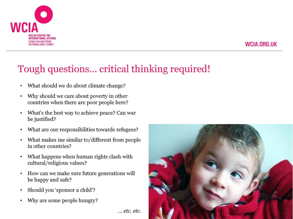 Tough questions… critical thinking required!