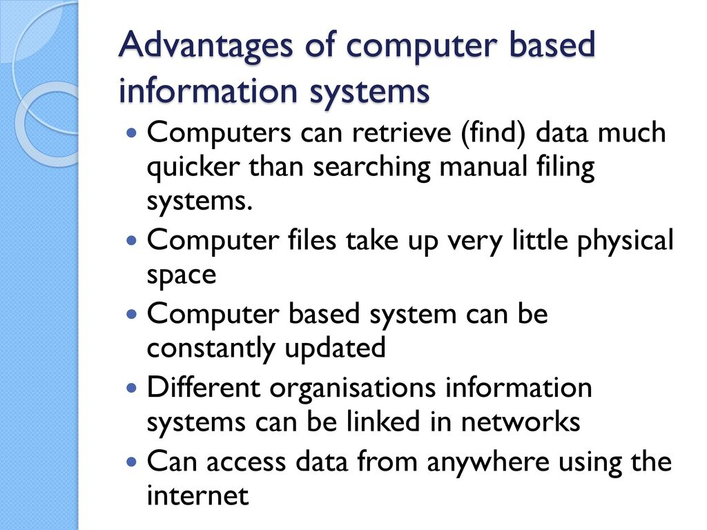 advantages of information systems Essay advantages of information systems and over other 29,000+ free term papers, essays and research papers examples are available on the website information systems have many advantages and can help the record store advance production and performance wise.