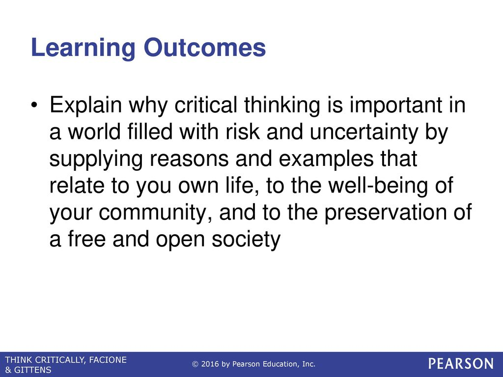 The Power Of Critical Thinking Ppt Video Online Download