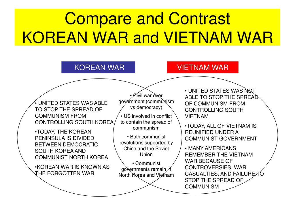 korean war vs vietnam war