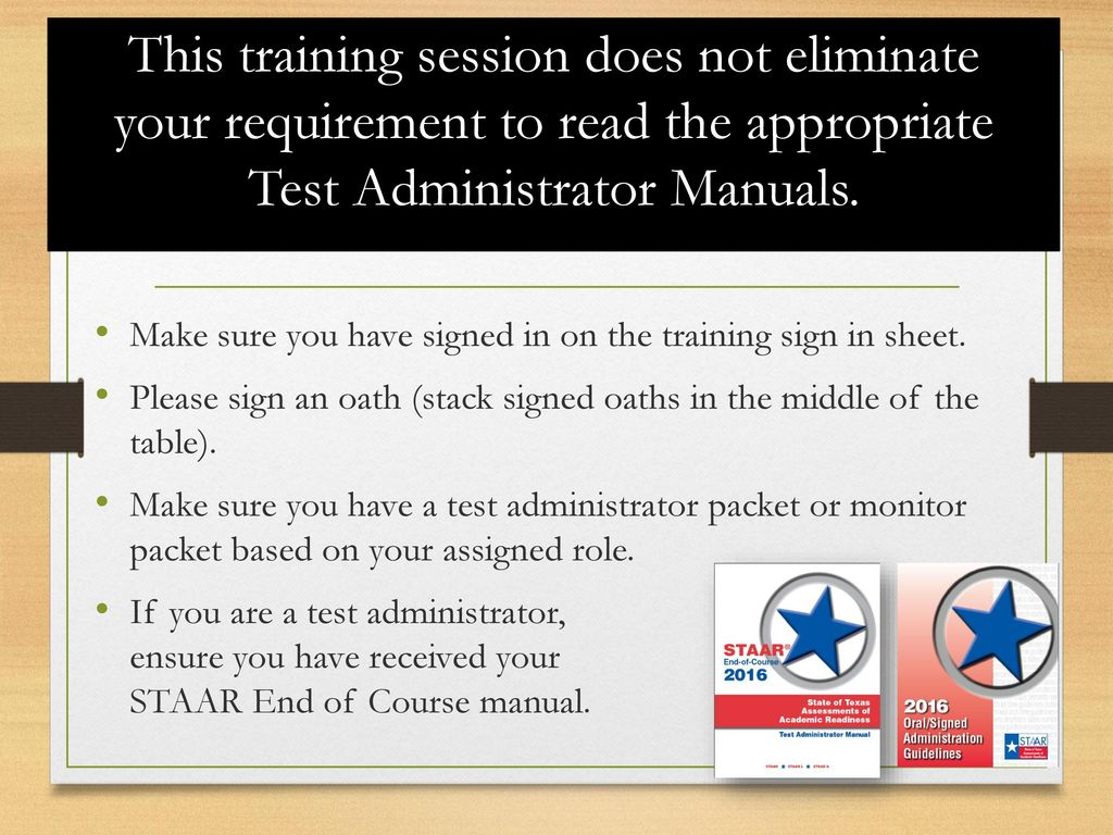 a9801d33ab0 Campus Name STAAR EOC Test Administrator Training - ppt download