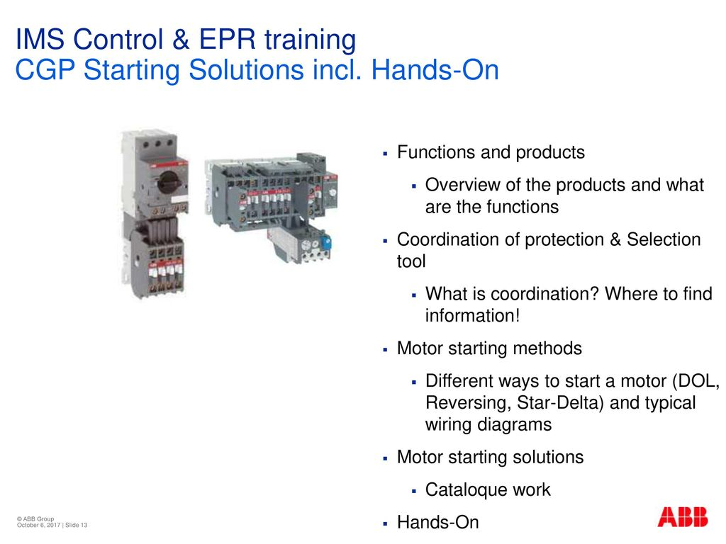 Insight Vision Perspective Ims Control Epr Training Ppt Download Abb Motor Starter Wiring Diagram Cgp Starting Solutions Incl Hands On
