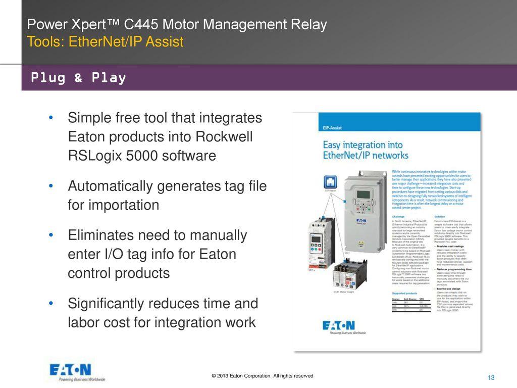 Power Xpert C445 Motor Management Relay Ppt Video Online Download Ethernet 13