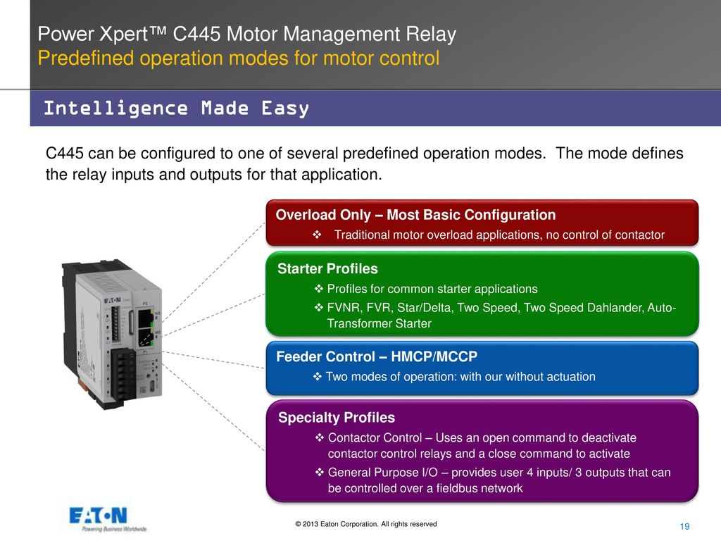 Power Xpert C445 Motor Management Relay Ppt Video Online Download Operation 19