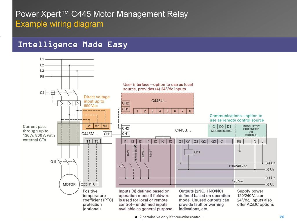 Power Xpert C445 Motor Management Relay Ppt Video Online Download 120 Volt Control Wiring Diagram Example Intelligence Made Easy