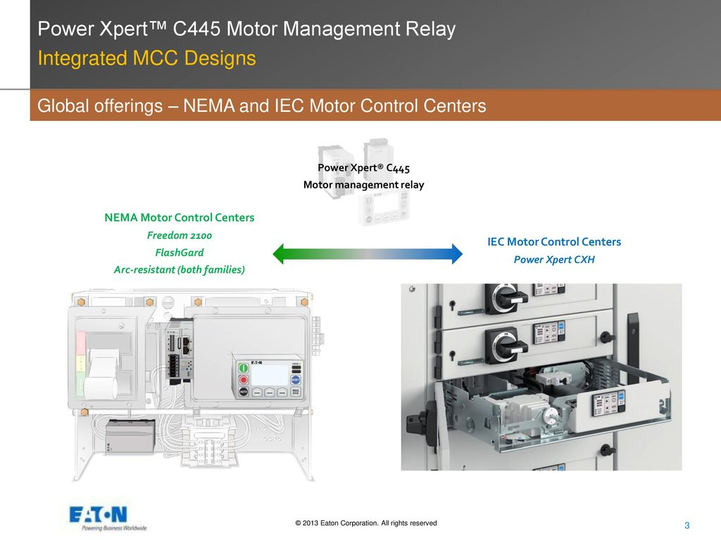 Power Xpert C445 Motor Management Relay Ppt Video Online Download Control Of Integrated Mcc Designs