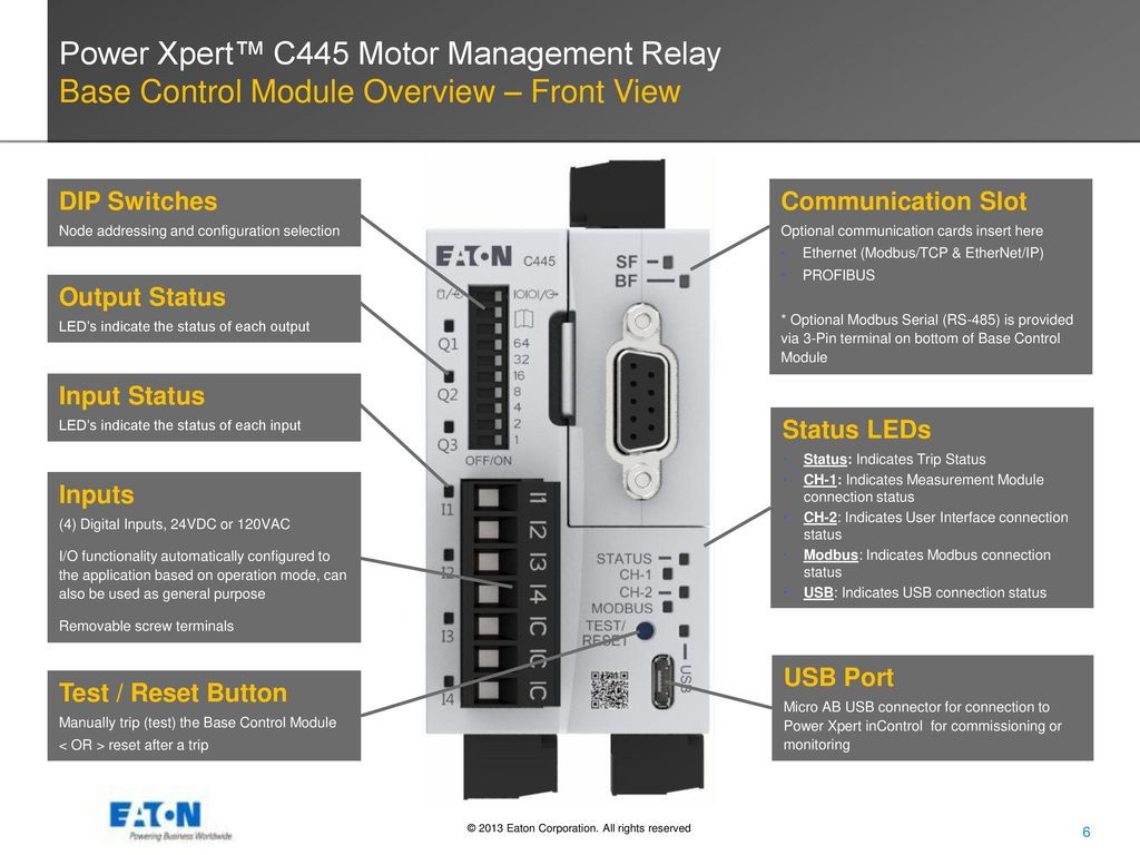 Power Xpert C445 Motor Management Relay Ppt Video Online Download Switch Over Ethernet