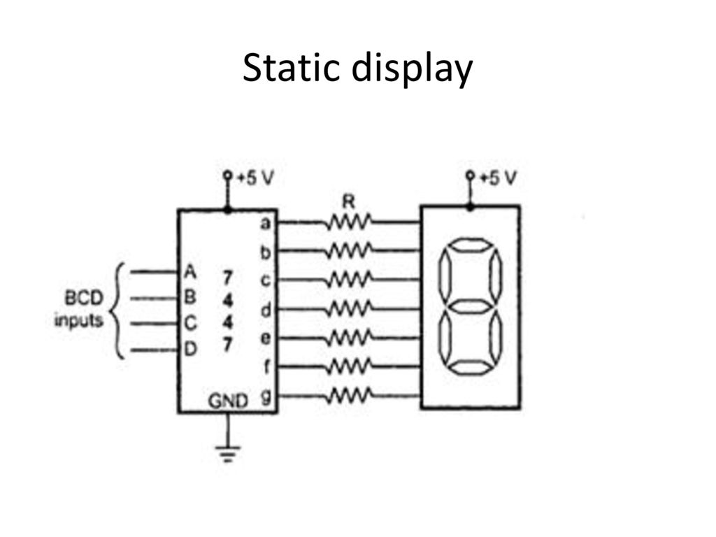 Circuit Diagram For Interfacing Common Anode 7 Segment Display Decoder