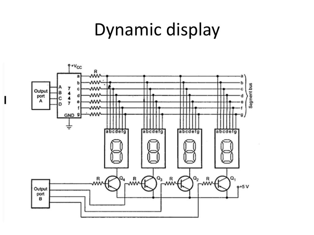 Circuit Diagram For Interfacing Common Anode 7 Segment Display Clock 14 Static