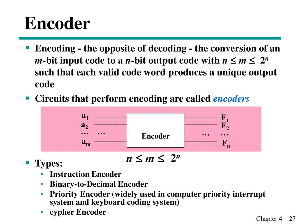 Chapter 3 Combinational Logic Design Ii Ppt Video Online Download Decoder And Encoder Circuits