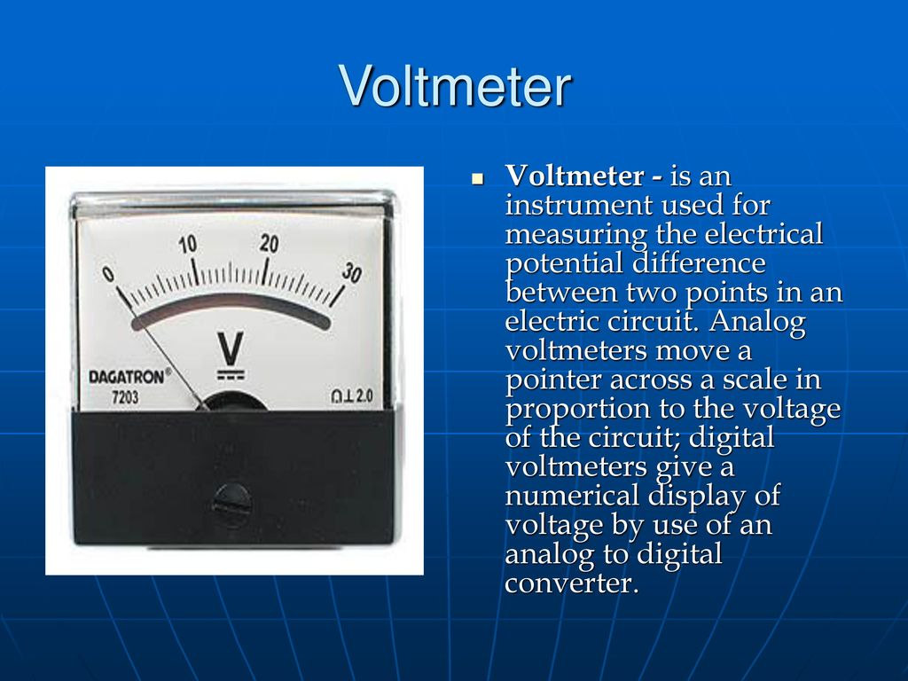 kinds of tools ppt video online downloadIn An Electric Circuit Analog Voltmeters Move A Pointer Across A #2