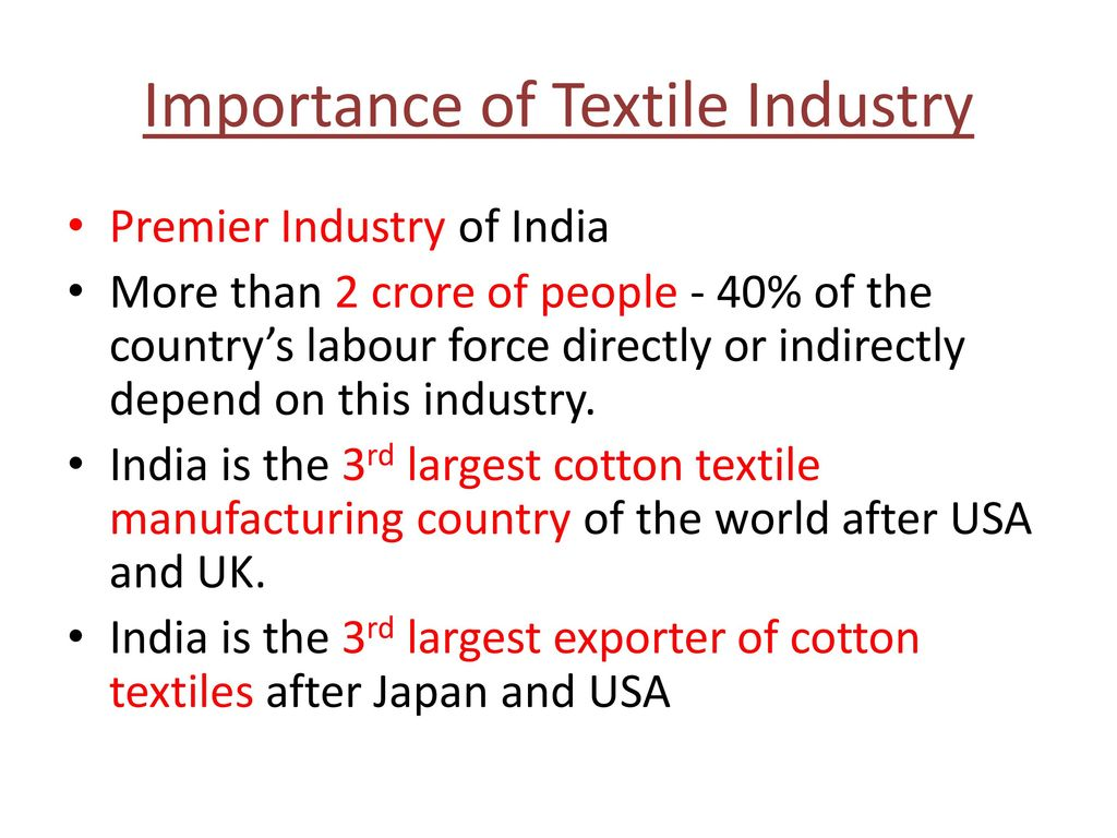 importance of textile industry