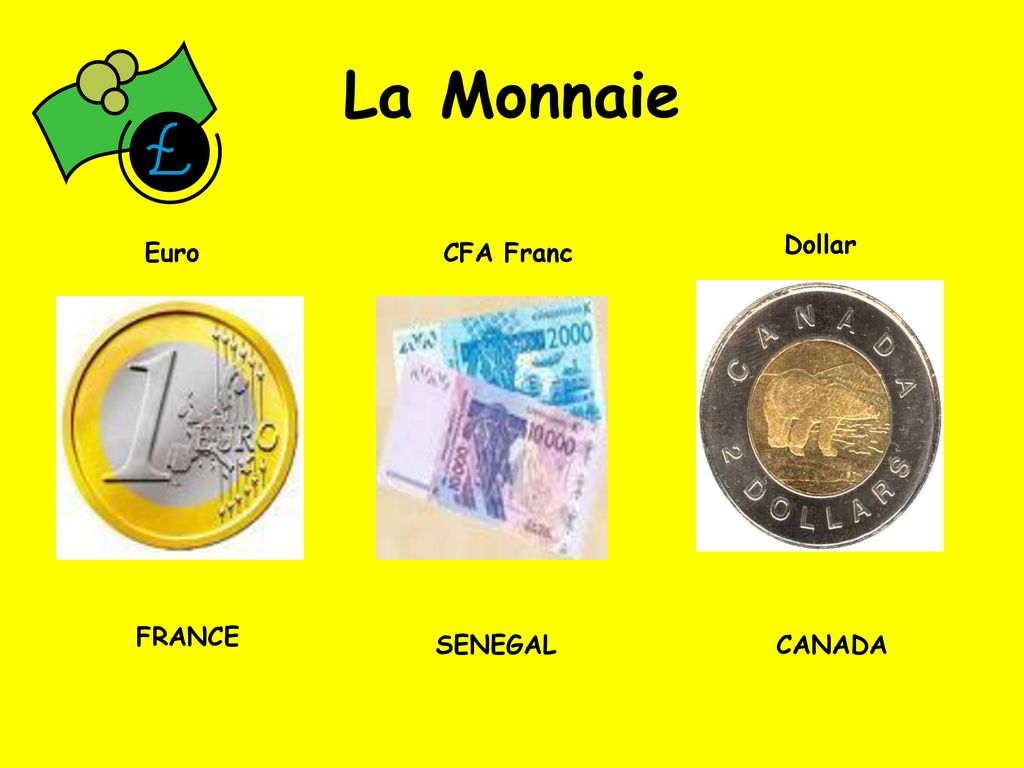 5 La Monnaie Dollar Euro Cfa Franc France Senegal Canada