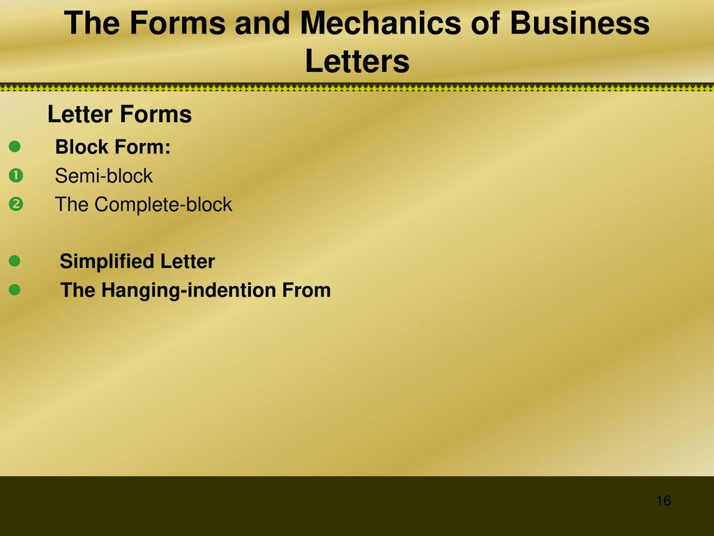 The Essential Parts Of The Business Letter  Ppt Download