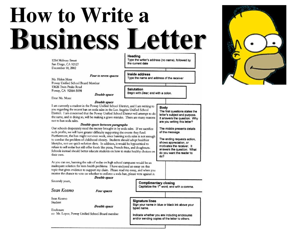 How To Write A Business Letter Ppt Download