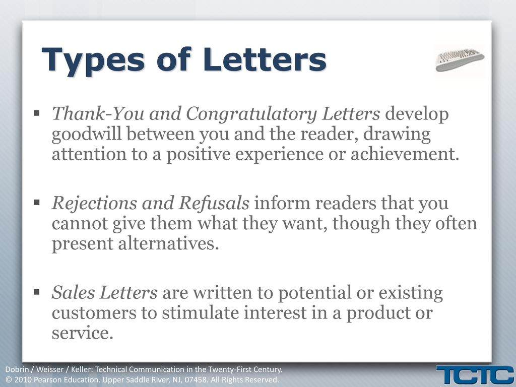 Chapter 13 Letters Ppt Download