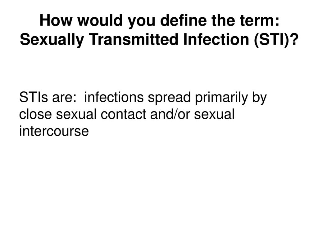 Nice sexually transmitted infections definition