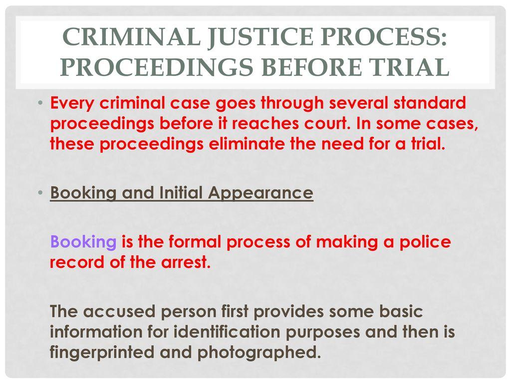 criminal justice process: the investigation - ppt download