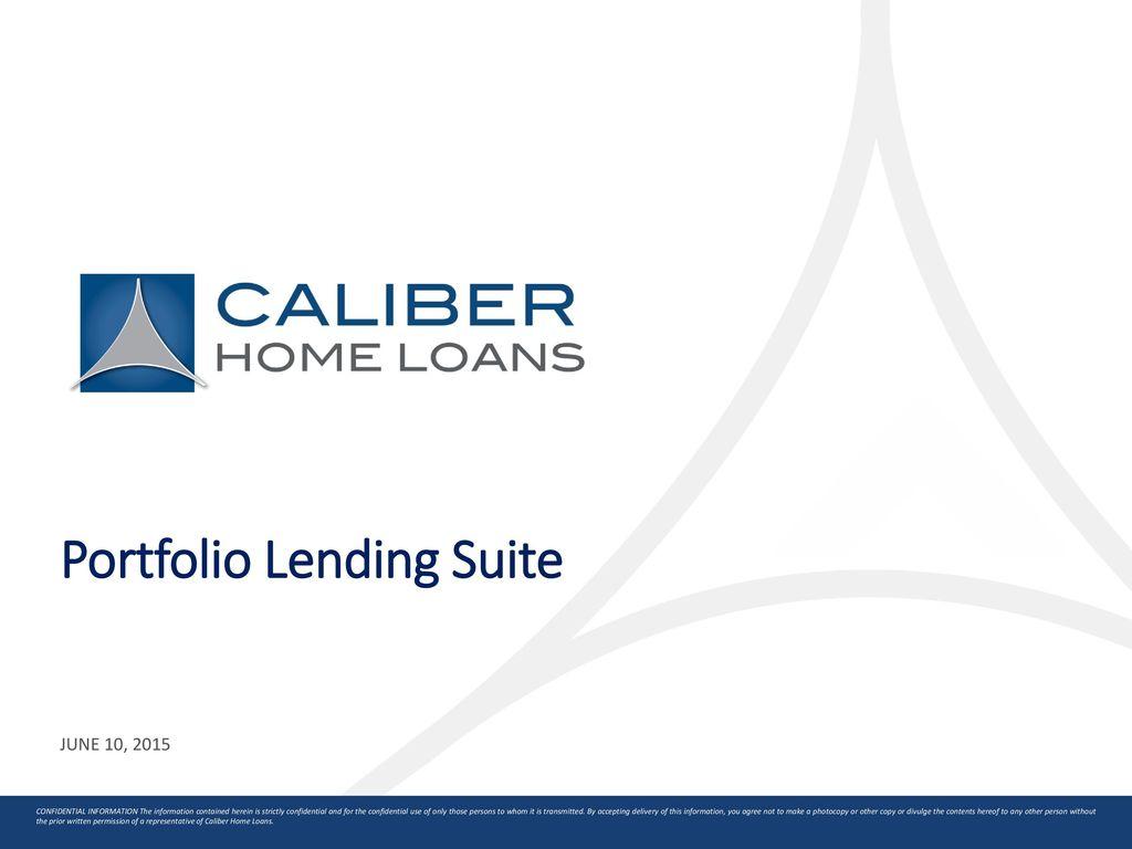 Portfolio Lending Suite Ppt Download