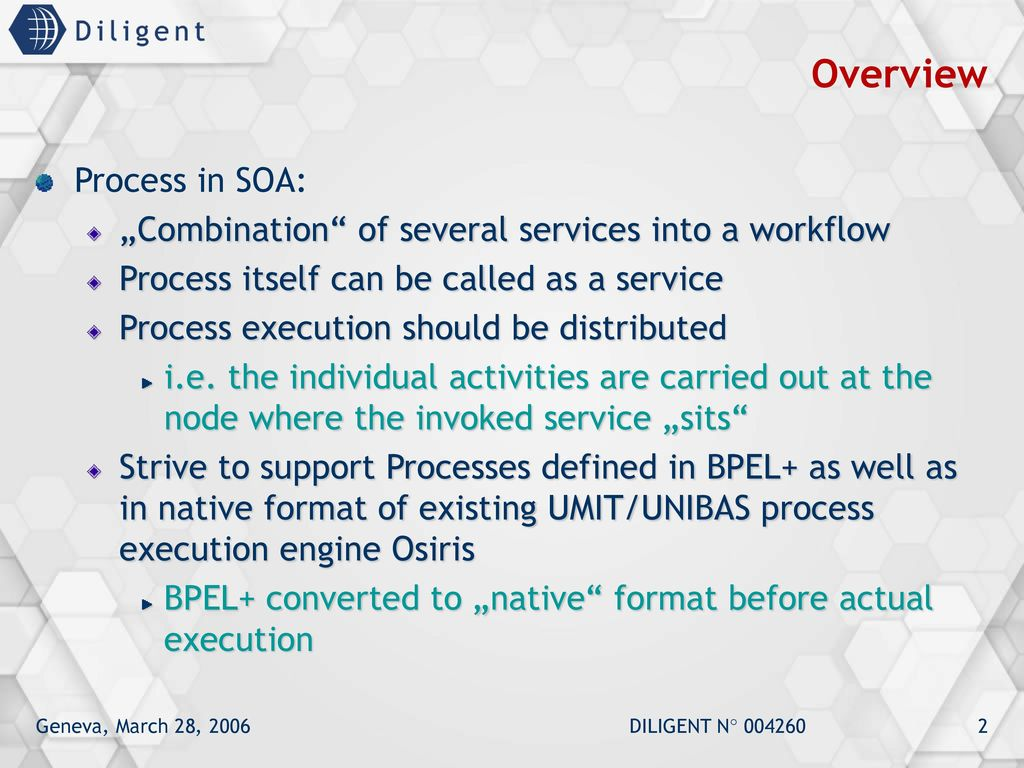 WP 1 5 Process Management Process Execution & Reliability