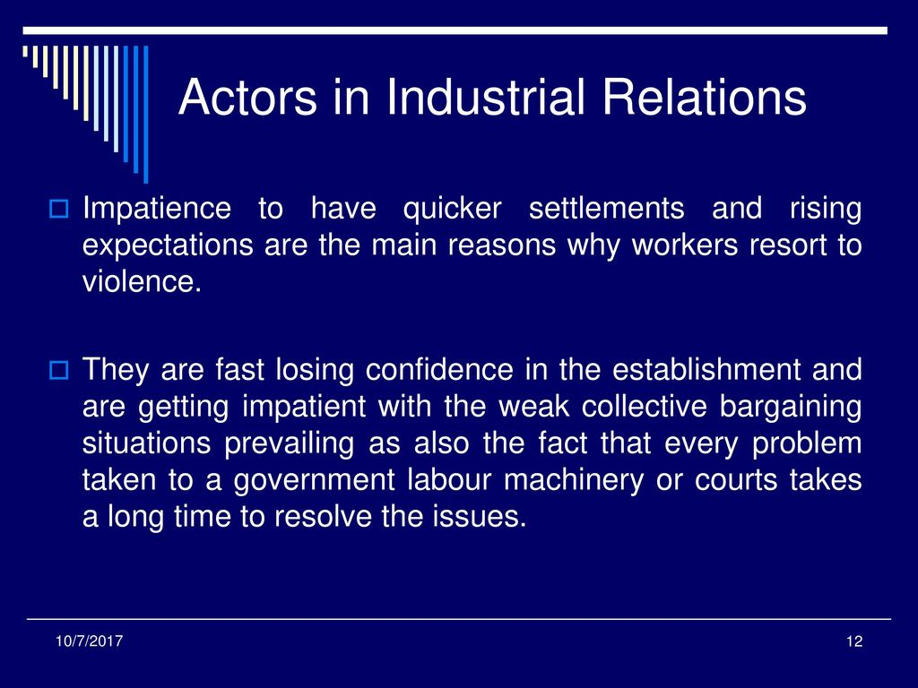 content of industrial relations