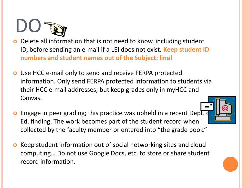 ferpa form hcc  Catherine Mund Registrar - ppt download