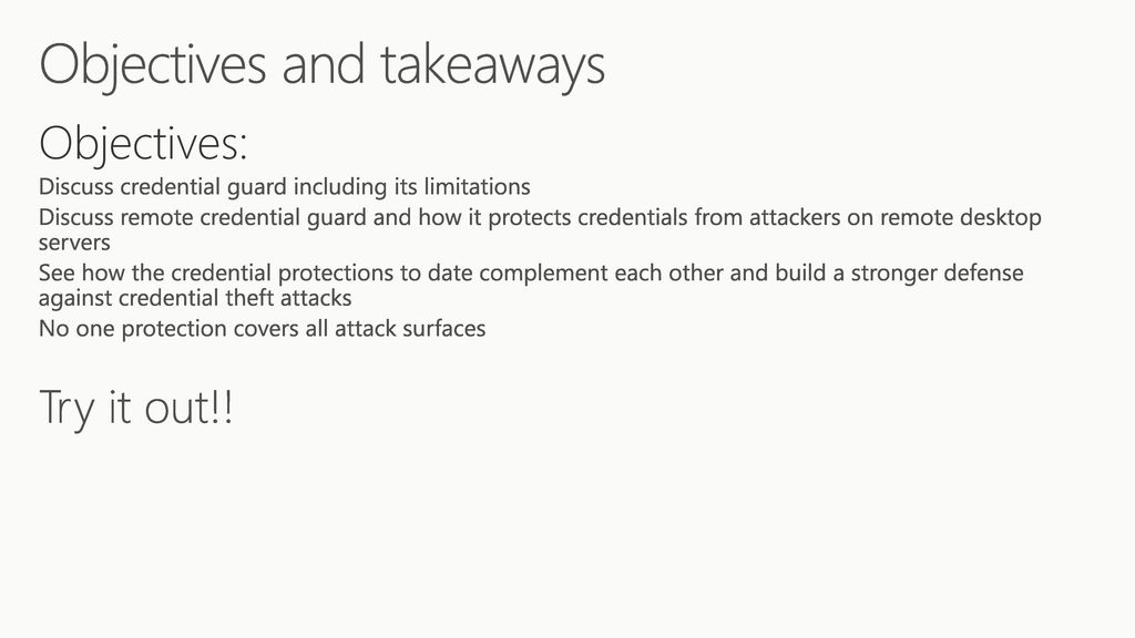 End the game for Credential Theft with Windows ppt download