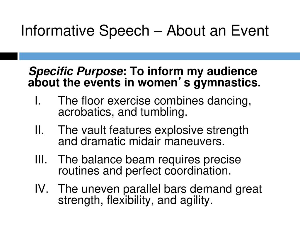 informative speech about exercise