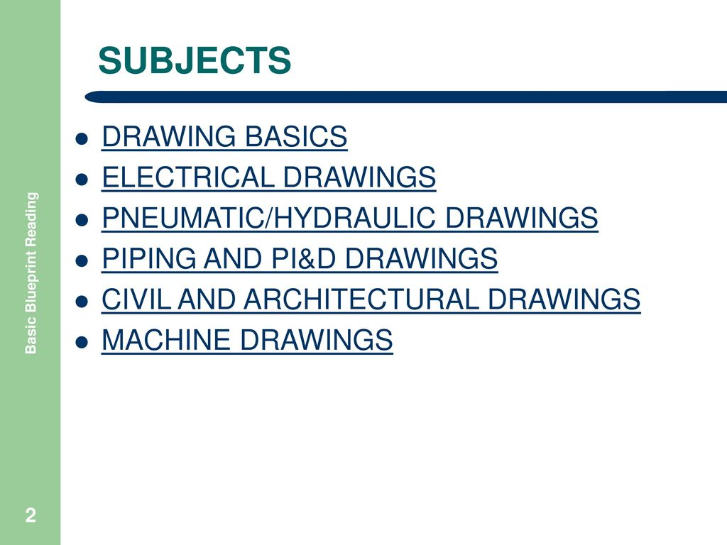 Basic Blueprint Reading Ppt Download Hvac Drawing Basics Subjects Electrical Drawings