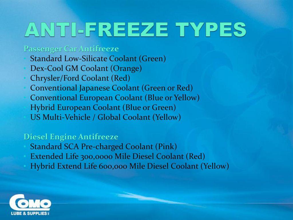From Ethylene To Automotive Coolants Como Lube Supplies Inc Frozen Engine Coolant Anti Freeze Types Passenger Car Antifreeze