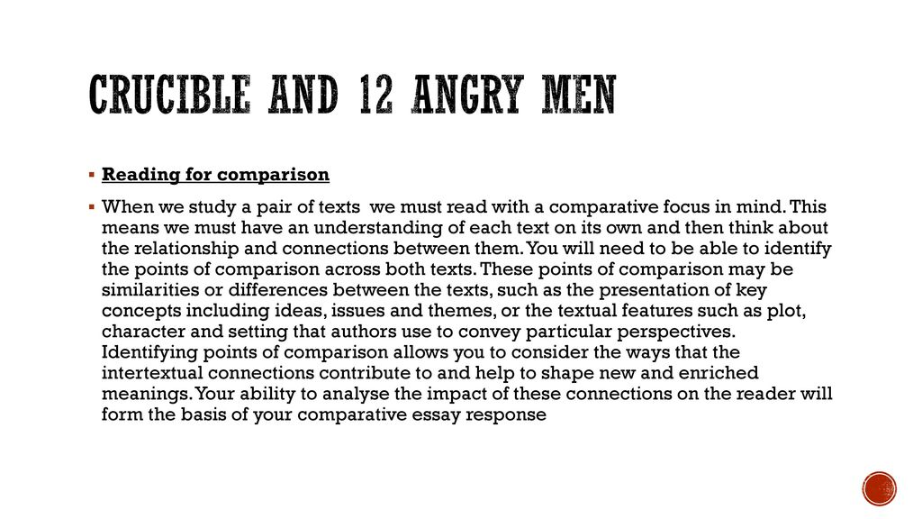 The Crucible And 12 Angry Men Ppt Download