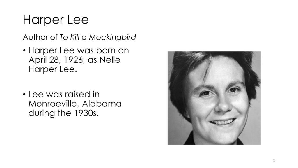 how does harper lee develop the Harper lee's to kill a mockingbird takes place in a small southern town of maycomb, alabama during the early 1930s, where prejudice was at its peak the story.