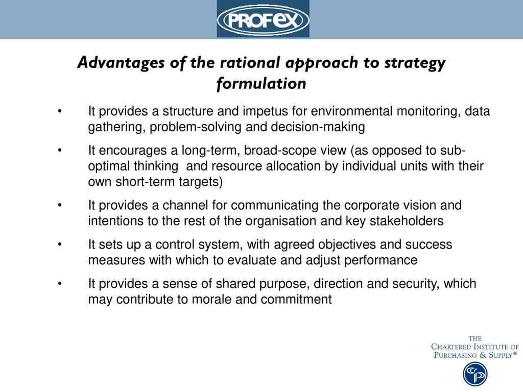 rational approach to strategy
