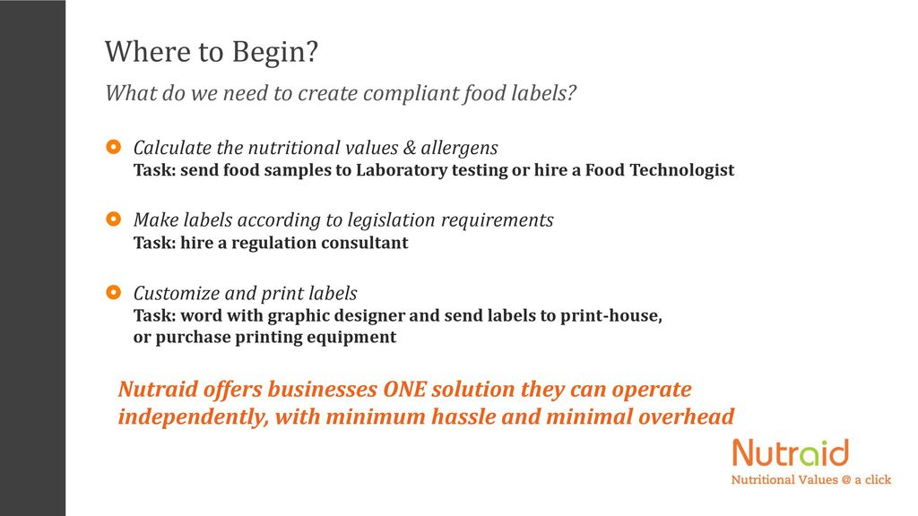 Nutritional Analysis & Labeling Software - ppt video online