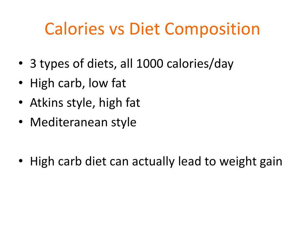 Calories vs Diet Composition