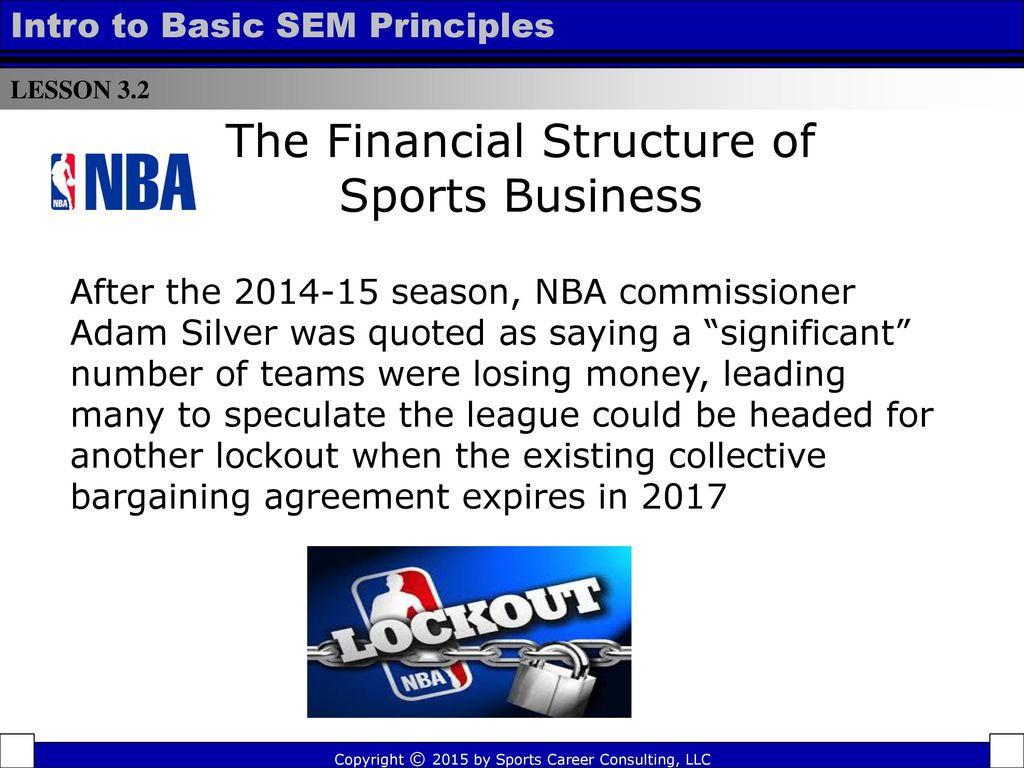 Structure of Sports Business - ppt video online download